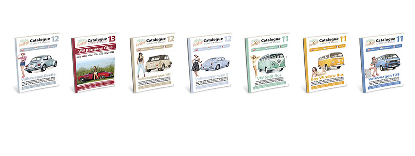 . 7 catalogs, 1 for each type of VW