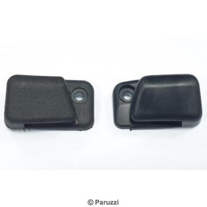 Sun visor clips zwart pair.