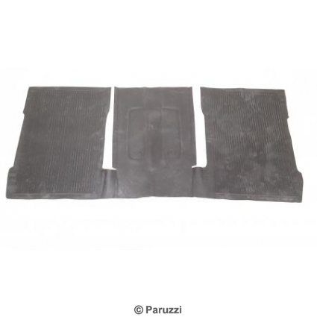 Rubber floor mat set.