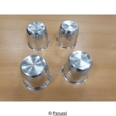 Polished aluminum center caps with paruzzi emblem 4 pcs.