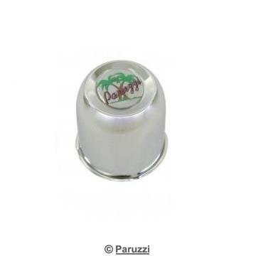 Chromed steel center caps with paruzzi emblem 4 pcs.