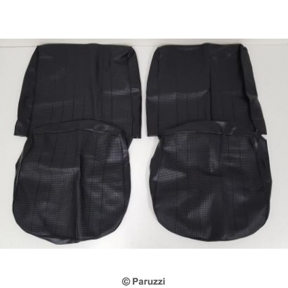 Seat cover set black basket vinyl.