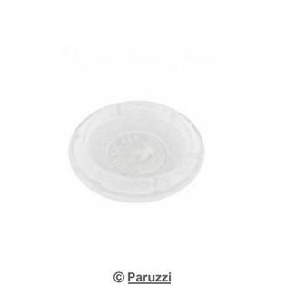 Cover plug 24 mm semi translucent 2 pcs.