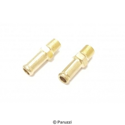Fuel fitting pair.