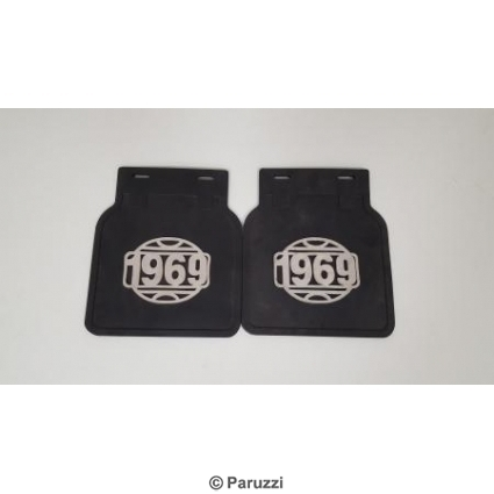 Mud flaps black incl. hardware 1969 per pair .