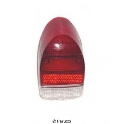 Tail light lens USA red/red/clear A-Quality pair.