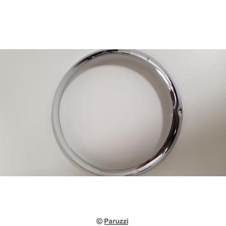 Headlight rim European chrome steel each.