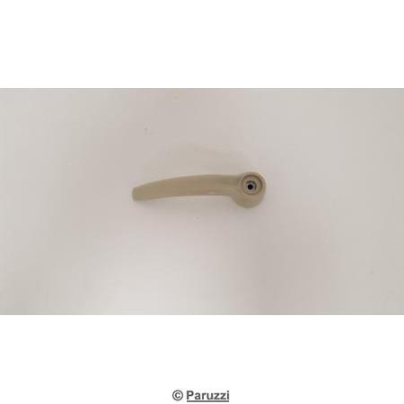 Slide door inner handle silver beige.