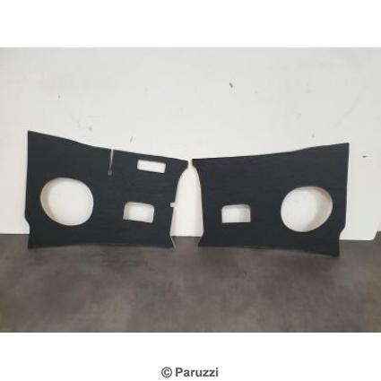 Kick panels black (vinyl covered)  per pair.