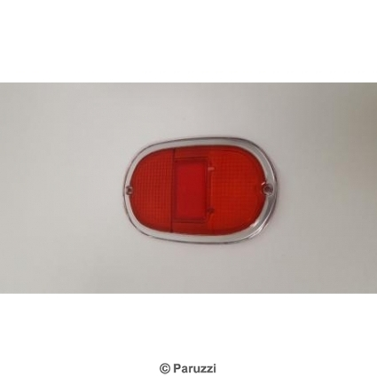 Taillight lens red/red each.