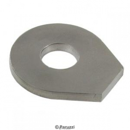 Stainless steel front axle lock plate each.